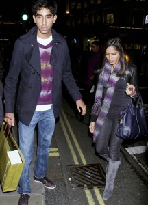Freida Pinto and Dev Patel spotted walking hand in hand through London on October 20th 2009 1