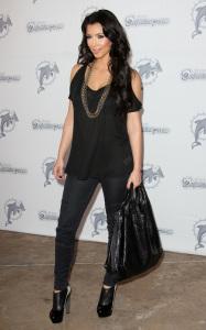 Kim Kardashian seen as she arrives at Land Shark Stadium in Miami Florida on October 25th 2009 1