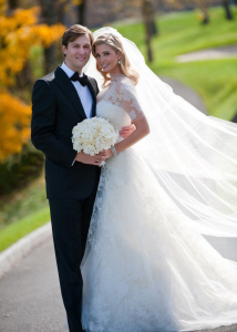 Ivanka Trump and Jared Kushner wedding photo from their private Jewish ceremony at the Trump National Golf Club in Bedminster New Jersey on October 25th 2009 3