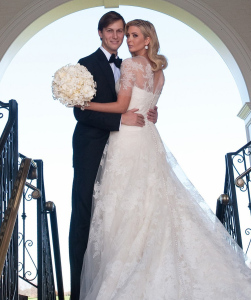 Ivanka Trump and Jared Kushner wedding photo from their private Jewish ceremony at the Trump National Golf Club in Bedminster New Jersey on October 25th 2009 1
