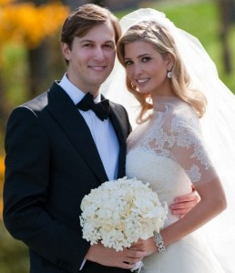 Ivanka Trump and Jared Kushner wedding photo from their private Jewish ceremony at the Trump National Golf Club in Bedminster New Jersey on October 25th 2009 5