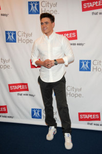 Jesse McCartney arrives at the Disneys 2nd Annual Concert For Hope at the Nokia Theatre on October 25th 2009 in Los Angeles California 3