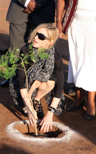 Madonna spotted at the construction site of a new academy for girls at Chinkhota village some 24km north of the capital Lilongwe Malawi on October 26th 2009 10