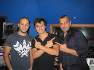 Winner of Star Academy season 5 Nader Quirat picture during the recording of his first single LAnge Perdu at a studio in Lebanon Beirut 2