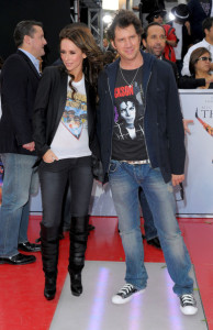 Jennifer Love Hewitt and Jamie Kennedy arrive at the premiere of This Is It movie on October 27th 2009