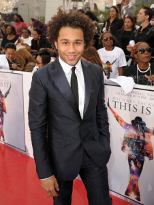 Corbin Bleu arrives at the premiere of This Is It movie on October 27th 2009