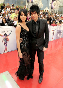 Adam Lambert and Katy Perry arrive at the premiere of This Is It movie on October 27th 2009