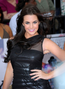 Jessica Lowndes arrives at the premiere of This Is It movie on October 27th 2009