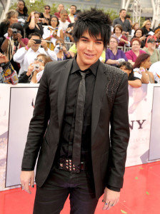 Adam Lambert arrives at the premiere of This Is It movie on October 27th 2009