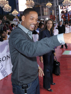 Will Smith arrives at the premiere of This Is It movie on October 27th 2009