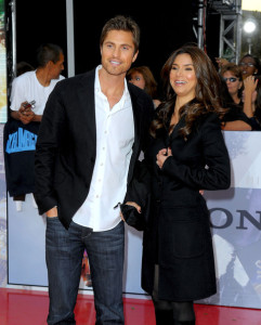 Roselyn Sanchez and Eric Winter arrive at the premiere of This Is It movie on October 27th 2009