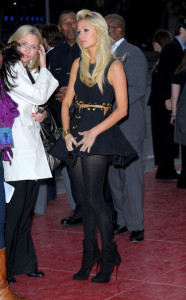 Paris Hilton arrives at the premiere of This Is It movie on October 27th 2009