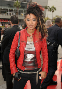 Judith Hill arrives at the premiere of This Is It movie on October 27th 2009