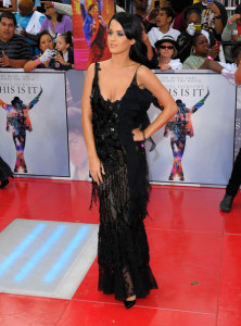 Katy Perry arrives at the premiere of This Is It movie on October 27th 2009