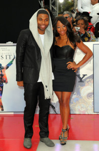 Monique Coleman and Jason Williams arrive at the premiere of This Is It movie on October 27th 2009