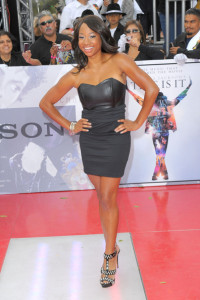 Monique Coleman arrives at the premiere of This Is It movie on October 27th 2009