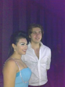 Picture of Mirhan Hussein with Mohamad Kmmah at her 27th birthday party in October 2009 1