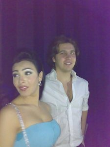 Picture of Mirhan Hussein with Mohamad Kmmah at her 27th birthday party in October 2009 3