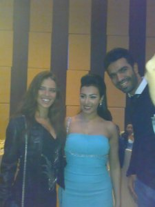 Picture of Mirhan Hussein with Lara Scandar at her 27th birthday party in October 2009 and Mohamad Serag