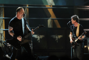 James Hetfield at the 25th Anniversary Rock & Roll Hall of Fame Concert at Madison Square Garden on October 30th 2009