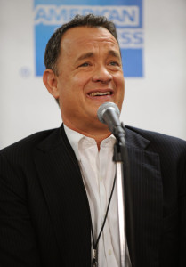 Tom Hanks at the 25th Anniversary Rock & Roll Hall of Fame Concert at Madison Square Garden on October 30th 2009