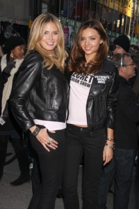 Heidi Klum and Miranda Kerr together at the Times Square For The Victorias Secret Fashion Show in New York City on November 18th 2009 2