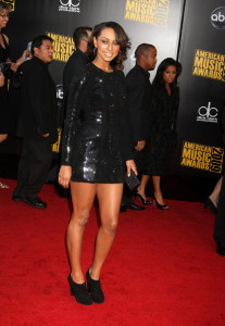 Keri Hilson arrives at the 2009 American Music Awards at the Nokia Theatre LA Live in Los Angeles California on November 22nd 2009 2