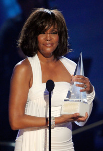 Whitney Houston accepts the Award of International Favorite Artist Award onstage at the 2009 American Music Awards at Nokia Theatre LA on November 22nd 2009 in California 7