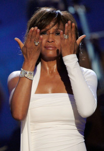 Whitney Houston accepts the Award of International Favorite Artist Award onstage at the 2009 American Music Awards at Nokia Theatre LA on November 22nd 2009 in California 9
