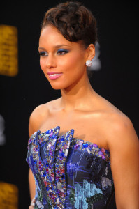 Alicia Keys arrives at the 2009 American Music Awards at the Nokia Theatre LA Live in Los Angeles California on November 22nd 2009 7