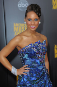 Alicia Keys arrives at the 2009 American Music Awards at the Nokia Theatre LA Live in Los Angeles California on November 22nd 2009 5