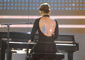 Alicia Keys performs onstage at the 2009 American Music Awards at the Nokia Theatre LA Live in Los Angeles California on November 22nd 2009 10