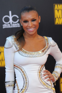 Melody Thornton arrives at the 2009 American Music Awards at the Nokia Theatre LA Live in Los Angeles California on November 22nd 2009 6