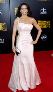 Sofia Vergara arrives at the 2009 American Music Awards at the Nokia Theatre LA Live in Los Angeles California on November 22nd 2009 4