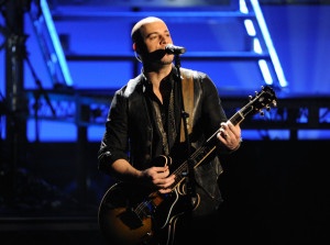 Chris Daughtry performs onstage at the 2009 American Music Awards at the Nokia Theatre LA in Los Angeles California on November 22nd 2009