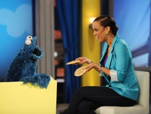 Tyra Banks picture from a recent episode of The Tyra Show with Sesame Street on December 3rd 2009 2