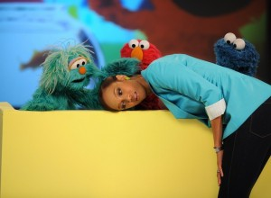 Tyra Banks picture from a recent episode of The Tyra Show with Sesame Street on December 3rd 2009 1