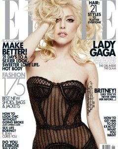 Lady Gaga on the January 2010 cover of Elle magazine 1