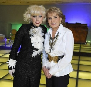 Barbara Walters with Lady Gaga as part of her special Barbara Walters Presents The 10 Most Fascinating People of 2009 1
