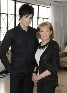Barbara Walters with Adam Lambert as part of her special Barbara Walters Presents The 10 Most Fascinating People of 2009 2