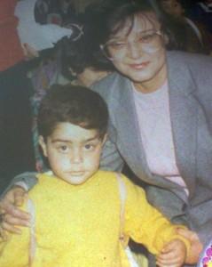 Saad Ramadan photo with his teacher in school