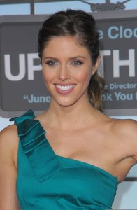 Kayla Ewell picture on the red carpet wearing a one shoulder green dress for the Up in the Air premiere in Westwood on November 30th 2009 2