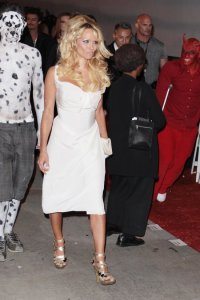 Pamela Anderson spotted arriving at the 4th Annual Gridlock New Years Eve Bash in Los Angeles on December 31st 2009 4