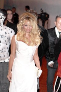 Pamela Anderson spotted arriving at the 4th Annual Gridlock New Years Eve Bash in Los Angeles on December 31st 2009 2