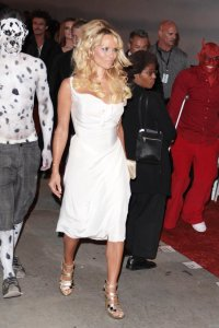 Pamela Anderson spotted arriving at the 4th Annual Gridlock New Years Eve Bash in Los Angeles on December 31st 2009 5