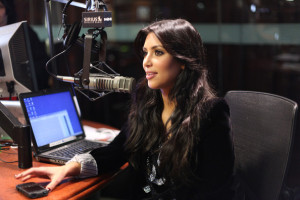 Kim Kardashian picture from her visit to Sirus XM Studios on December 8th 2009 in New York City 5