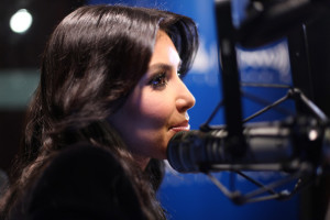 Kim Kardashian picture from her visit to Sirus XM Studios on December 8th 2009 in New York City 3
