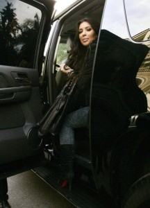 Kim Kardashian seen getting inside the car while leaving her home in Beverly Hills on November 11th 2009 1