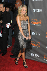 Carrie Underwood arrives at the Peoples Choice Awards 2010 held at Nokia Theatre on January 6th 2010 in Los Angeles 3