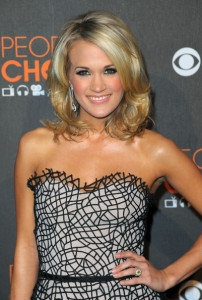 Carrie Underwood arrives at the Peoples Choice Awards 2010 held at Nokia Theatre on January 6th 2010 in Los Angeles 6